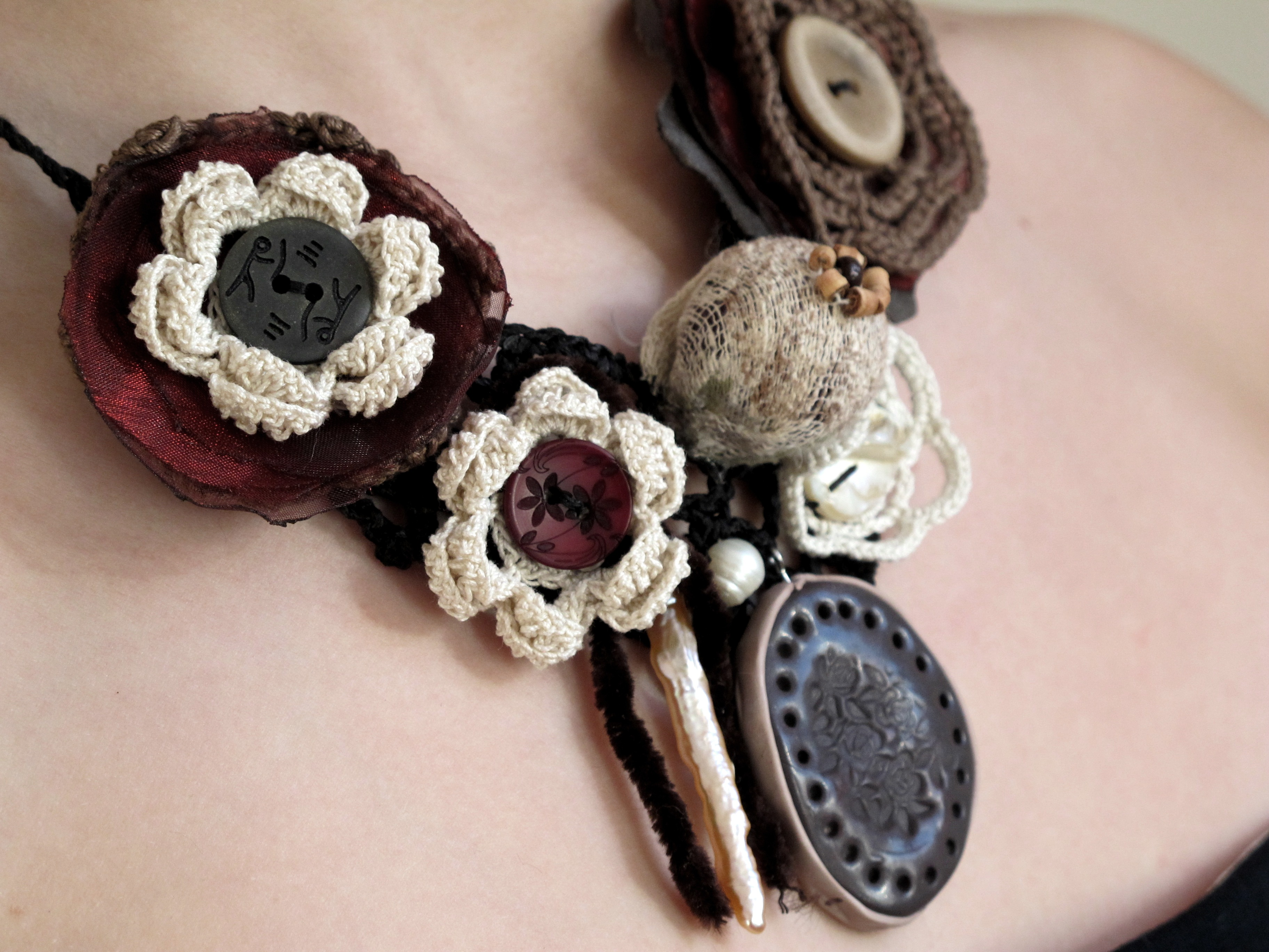 Crochet necklace in Necklaces & Pendants at Bizrate - Shop and
